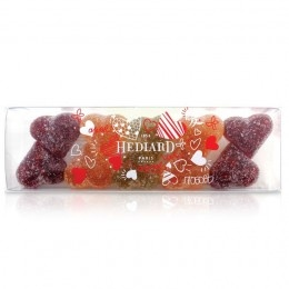 Romance, Anniversary  Valentine : Valentine - Ravishing fruit hearts (Fruit jellies)