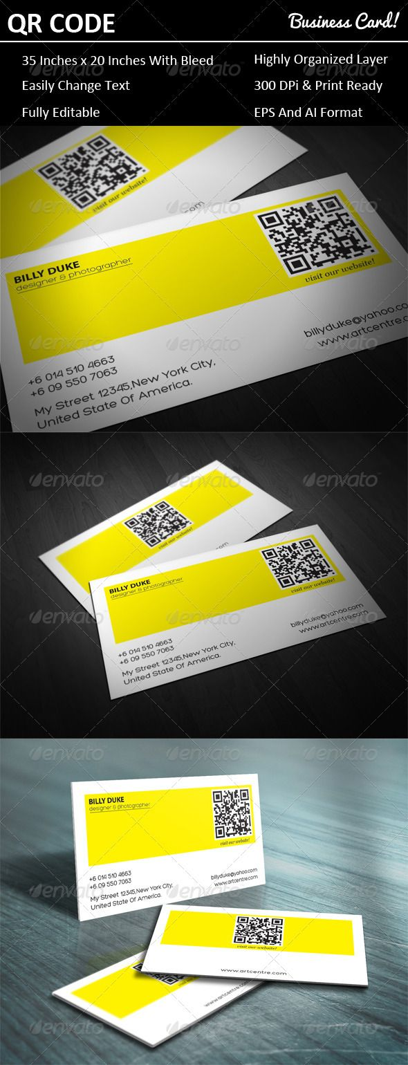 Best 25 qr code business card ideas on pinterest sample for Create qr code business card