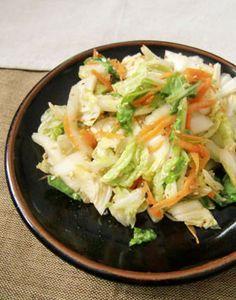白菜タップリもりもり!白菜と人参サラダ