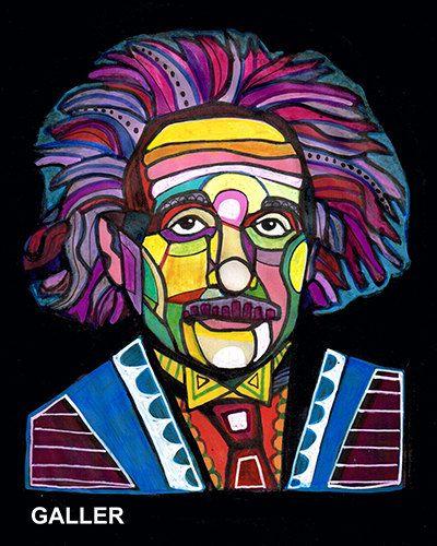 Original Albert Einstein Painting By Heather By