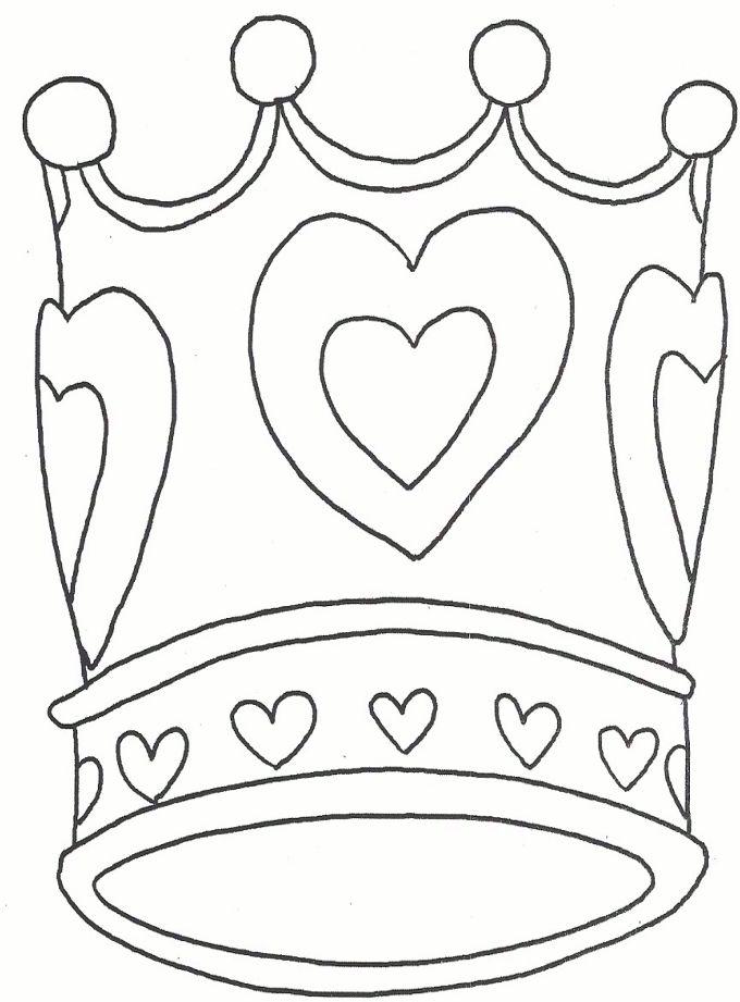 kleurplaat kroon prinses kleurplaatjes kleurplaten kroon
