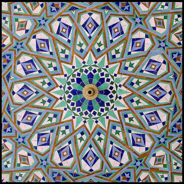 Moroccan style ceramic mosaic