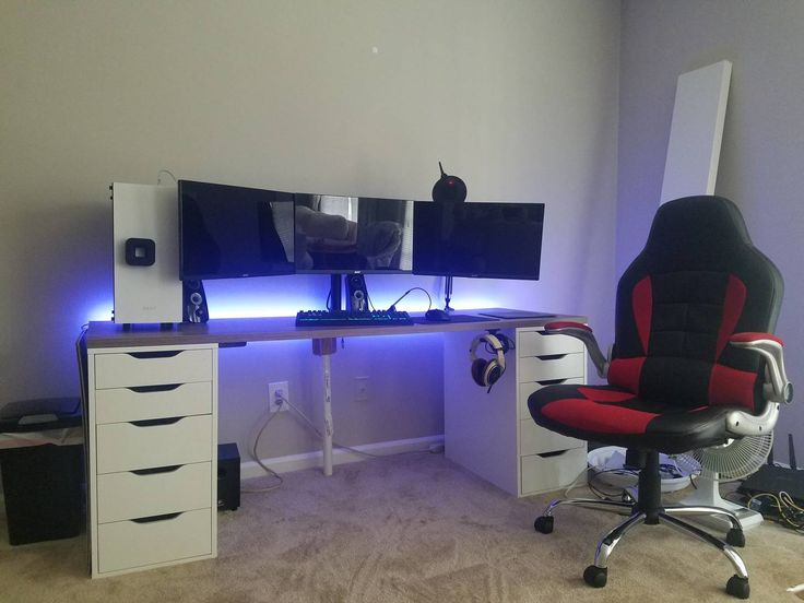 25 best ideas about Ikea gaming desk on Pinterest