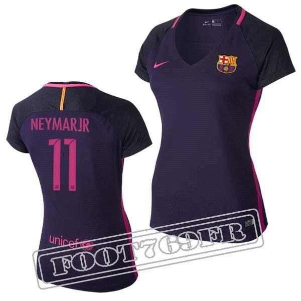 Promo Maillot Du Neymar Jr 11 FC Barcelone Femme Violet/Rose 16/17 Exterieur : La Liga