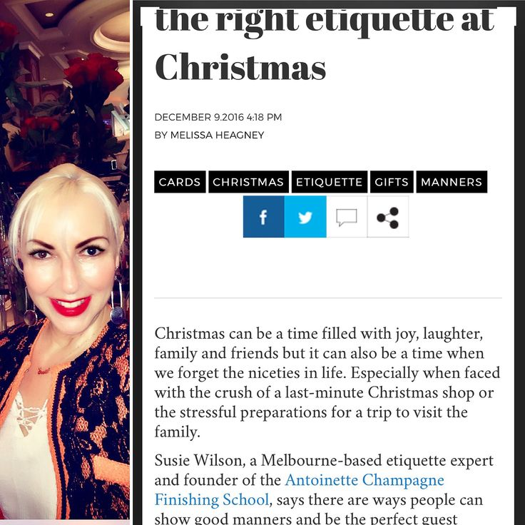 Christmas can be a time filled with joy, laughter, family and friends but it can also be a time when we forget the niceties in life. Especially when faced with the crush of a last-minute Christmas shop or the stressful preparations for a trip to visit the family.  Susie Wilson  - See more at: http://www.theweeklyreview.com.au/live/bad-gifts-and-impersonal-cards-the-right-etiquette-at-christmas/pub/australia/#sthash.N7c4mFNi.dpuf