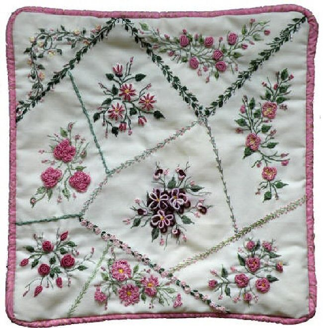 I ❤ embroidery . . . crazy quiling &t brazilian embroidery . . .