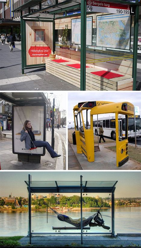 Great bus-stop ads. I'd particularly enjoy the swing....