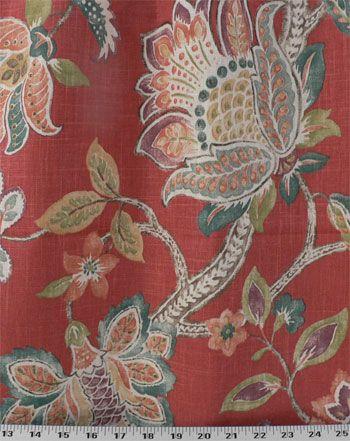 Garden Retreat Peacock. Drapery FabricUpholstery FabricsOnline ...