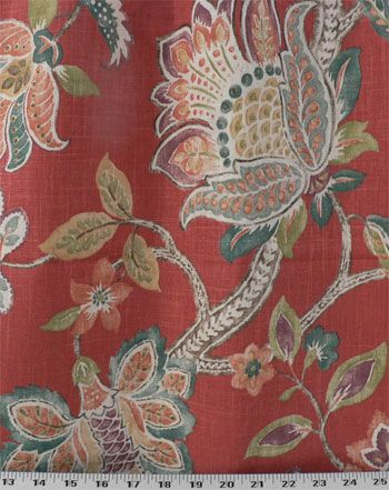 Garden Retreat Poppy | Online Discount Drapery Fabrics and Upholstery Fabric Superstore!