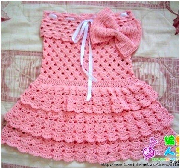 ergahandmade: Crochet Dress For Girl + Diagram