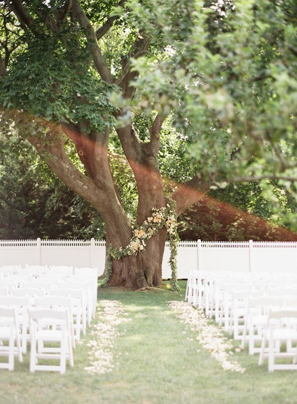 simple wedding ceremony under tree - Google Search