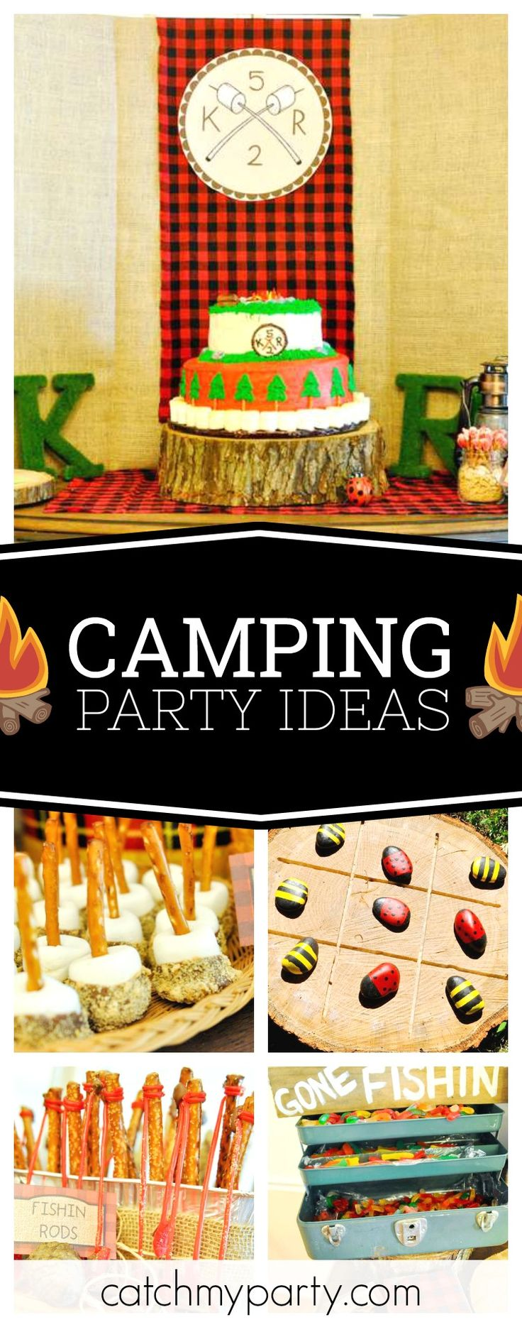 Camping Birthday Backyard Party