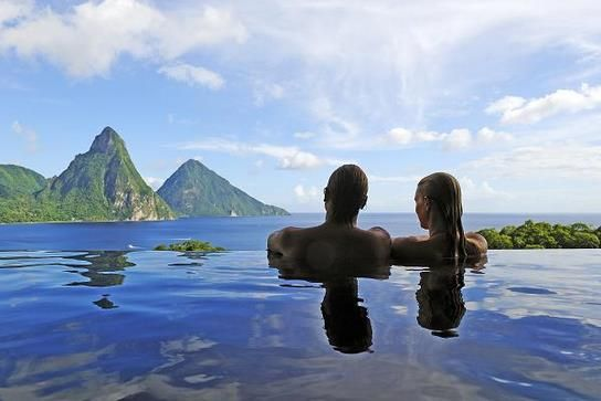 Jade Mountain in St. Lucia- where we spend the first night of our honeymoon. I want to go back now!