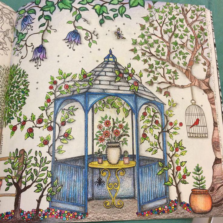 Johanna Basford Secret Garden Coloring Books Colouring Gazebo Mandala