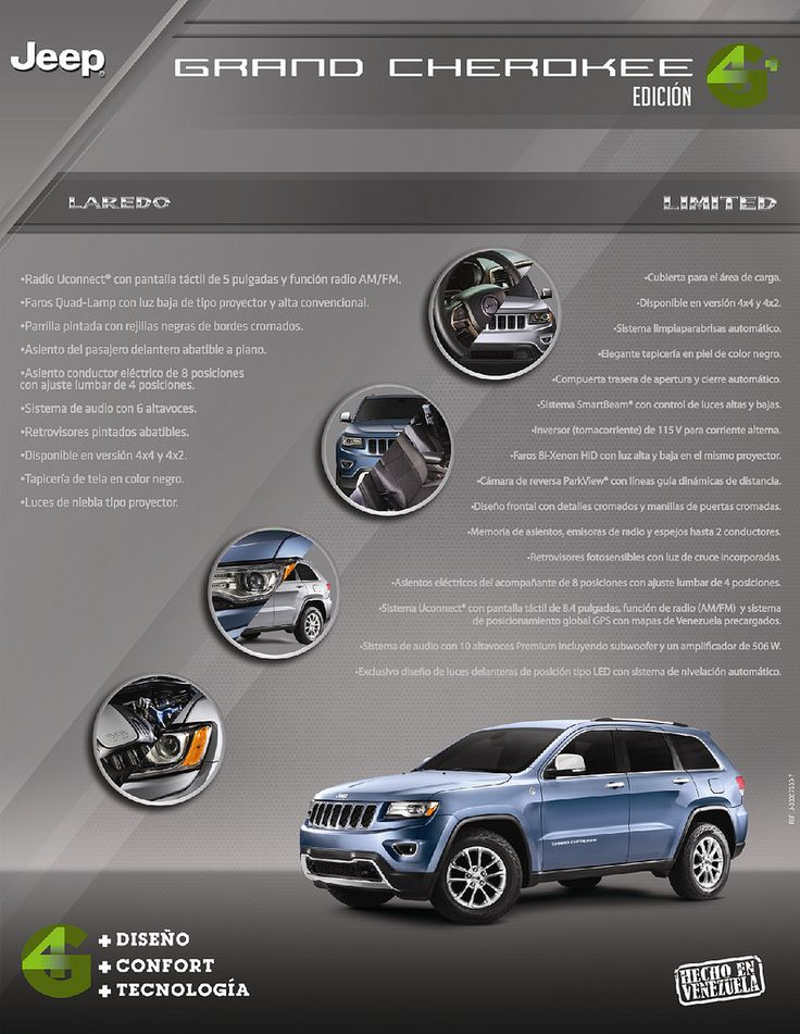 https://flic.kr/p/CBnSrh   Brochure Jeep Grand Cherokee 2014   Assembled in Venezuela