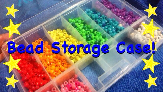 Hi this is my bead storage case for rainbow loom!