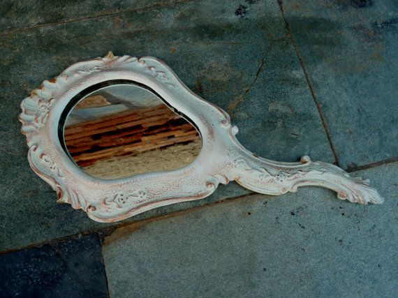Art Nouveau Hand Mirror. Antique  Hand Mirror. by Antiquescorner, $29.00