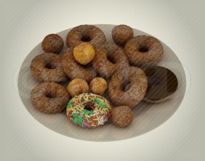 A plateful of delicious doughnuts, not the healthiest thing that they do look great! Buy this unwatermarked at http://3dstockimage.com/index.php?user=7297=1