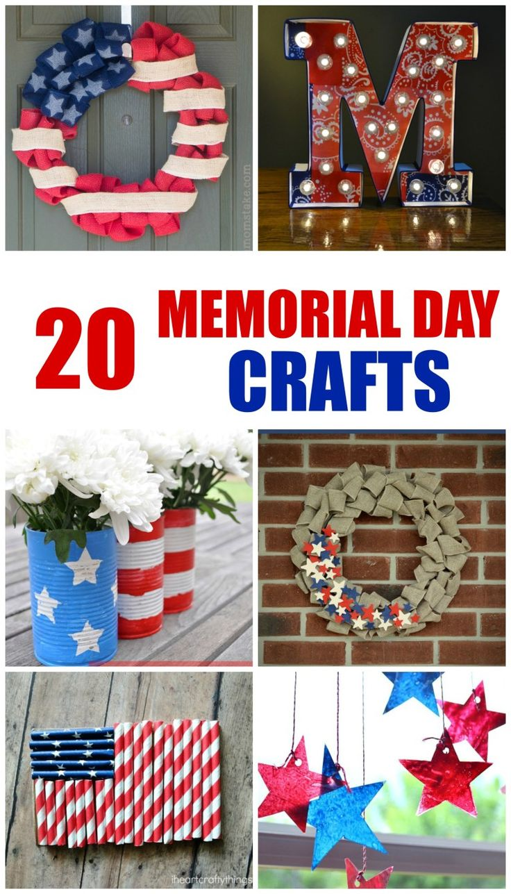 Make A Fun And Easy Memorial Day Craft To Add Some Patriotic Fun To Your Home Or School Decor