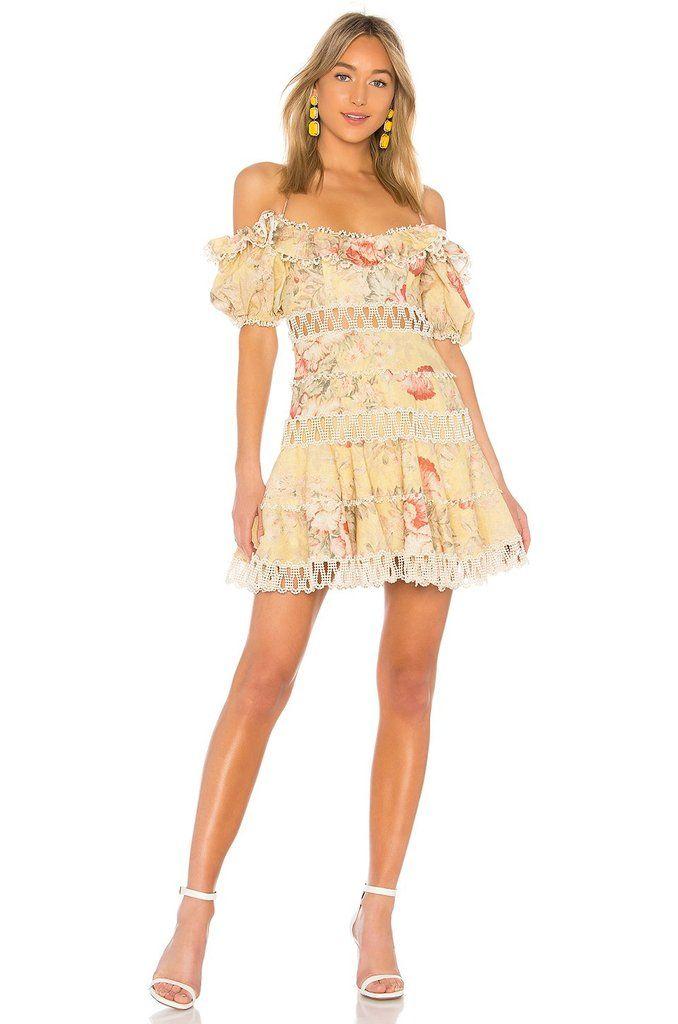 fa6887d8f281 Floral Ruffled Off Shoulder Mini Dress - DIOR BELLA