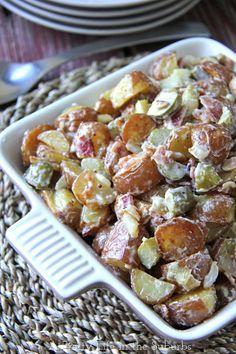 Warm Potato Salad. | A Pretty Life