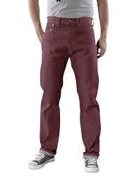Levi's 501 1436 Jeans Shrink to Fit Bordeaux Rigid Denim Jeans Size 36 X 32