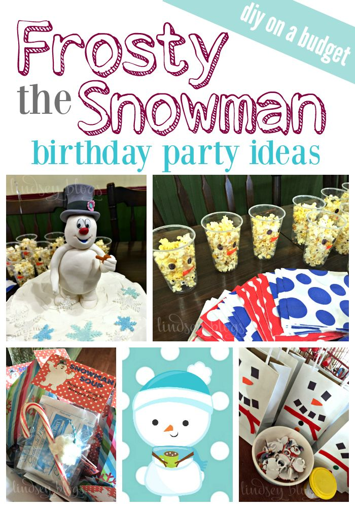 Frosty the Snowman Birthday Party [+ FREE Printables!]