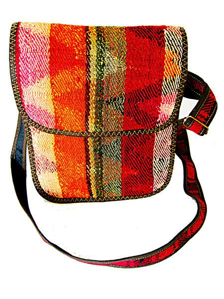 Messenger bag, handcrafted from handwoven material, Ethically sourced, Ethically made, Trendy bags, Unique, urban, street style great vibrant colors!