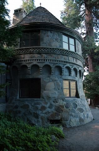 Vikingsholm Castle in Lake Tahoe. Scandinavian Architecture