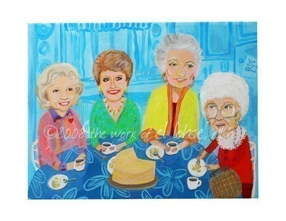 my golden girlsTrue Friendship, Editing Prints, Etsy, Limited Editing, Girls Generation, Awesome Painting, Awesome People, The Golden Girls, Oil Painting