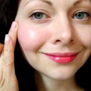 Cheek and Lip stain made from beets, olive oil, and honey.