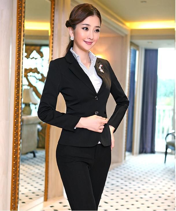 Lastest Women Black Business Suits Jacket Amp Pant Set 1 Button Slim Fit  Unm