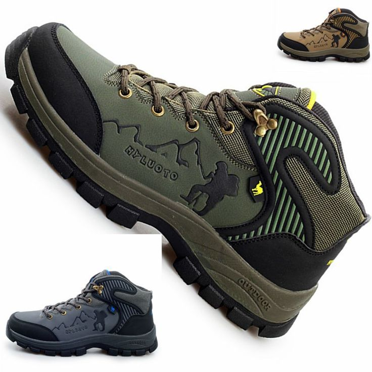 Мужчины открытый туризм спортивная обувь водонепроницаемый охота треккинг спортивная дышащая кожа марка путешествия обувь для ходьбы сапоги hs37074
