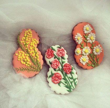 Кулинарные сувениры ручной работы. Ярмарка Мастеров - ручная работа. Купить 8 марта -имбирное печенье / пряник. Handmade.