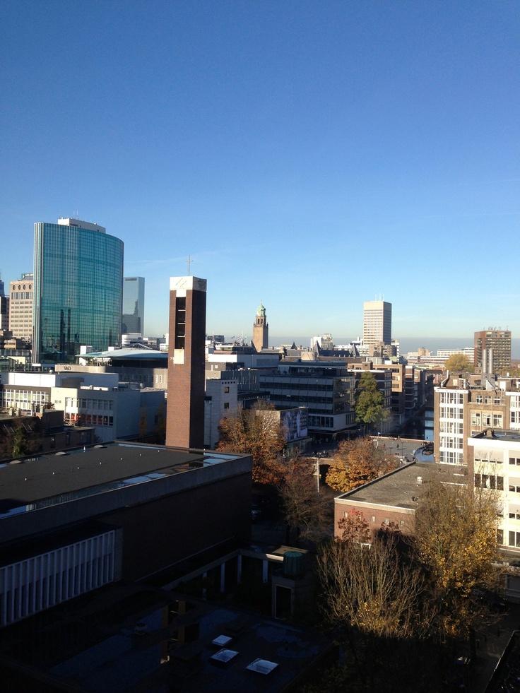 Centrum vanaf de Nieuwstraat rotterdam skyline