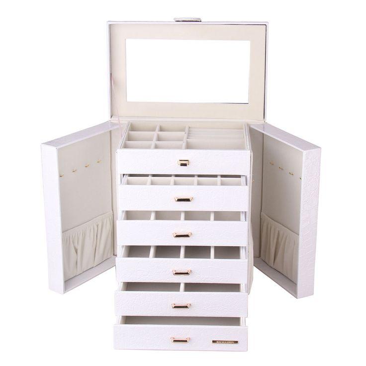 ROWLING Schmuckkoffer Schmuckkasten Schmuckschatulle Groß mit 5 Schubladen ZG231 in Uhren & Schmuck, Zubehör, Schmuckkästen   eBay