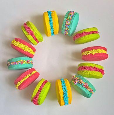 Alfajores de colores/ Alfajores de maicena / Sandwich cookies