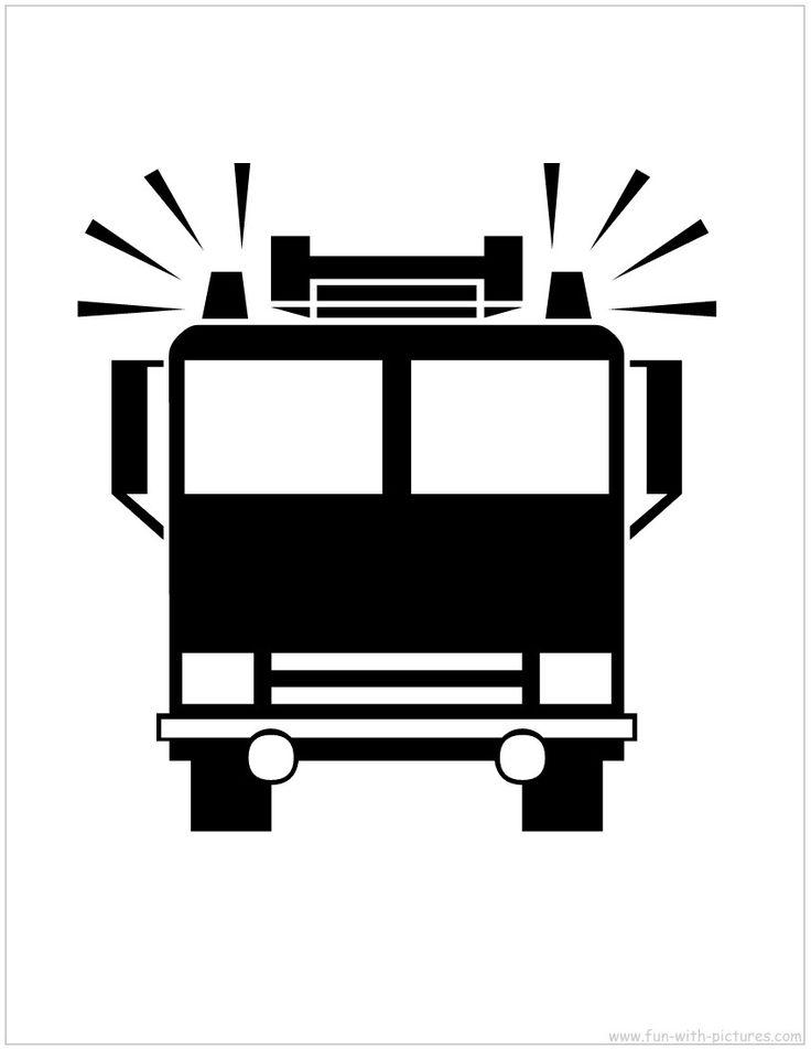 Printable Stencil Picture - Firetruck Stencil - Free Printables