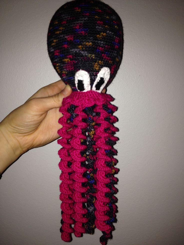 Crochet squid Blæksprutte  2013 - Alma