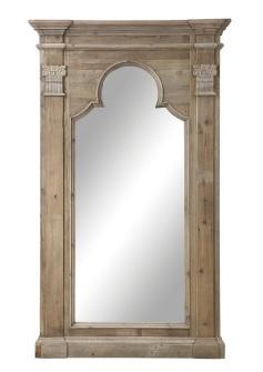 "44-1/2""L x 80""H Pine Framed Mirror, Mirror Size 26""L x 60-1/2""H ( the cottage brenham tx )"