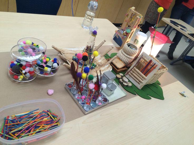Classmates' work. I like the way they set up