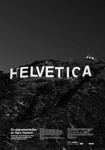 poster for the film Helvetica-wood