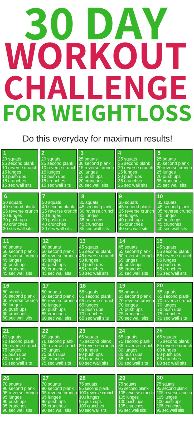 This 30 day workout challenge for beginners for weight loss is THE BEST! I'm so …