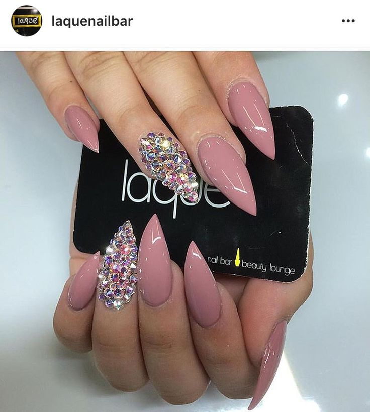 Mauve Stilletto Nails