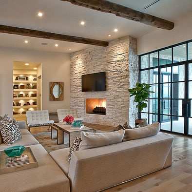 by Cornerstone Architects: Interior Design, Ideas, Livingrooms, Living Rooms, Modern Living, Cat Mountain, House, Fireplace, Room Design