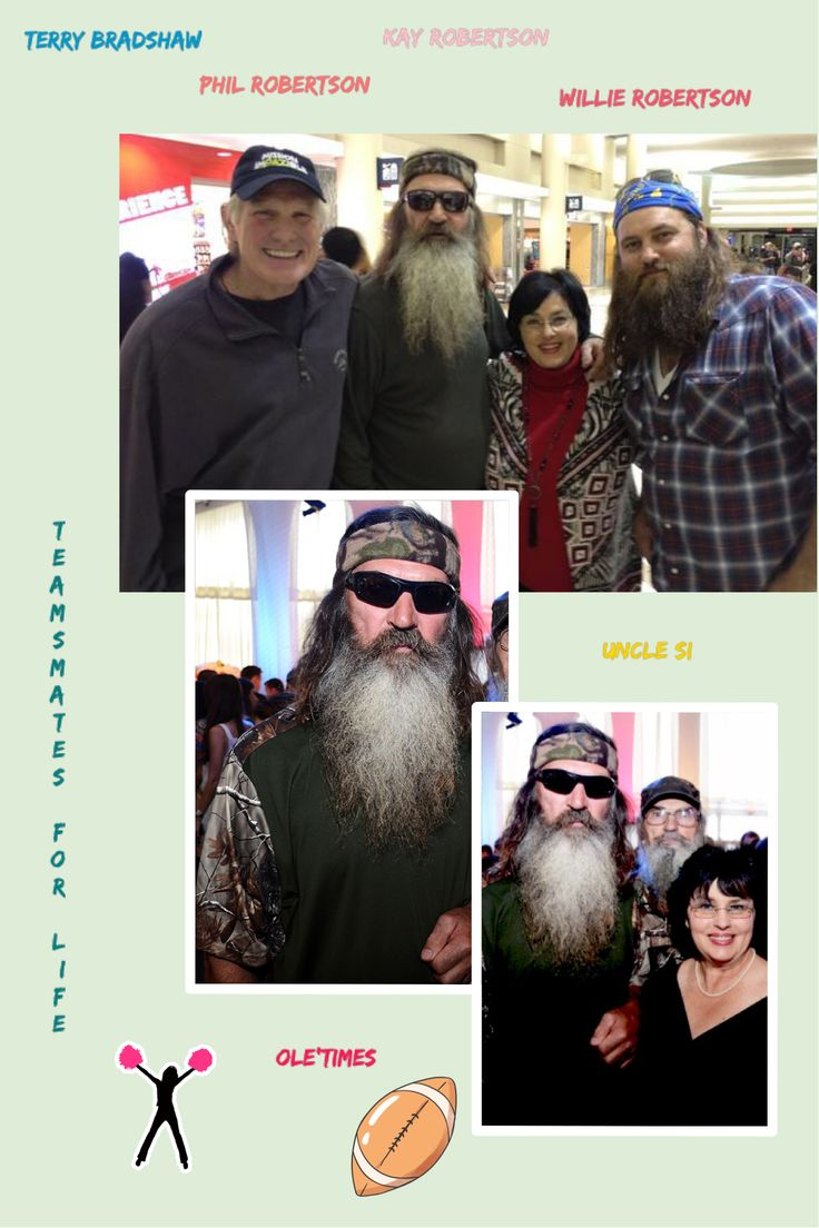 Terry Bradshaw And Phil Robertson Friends