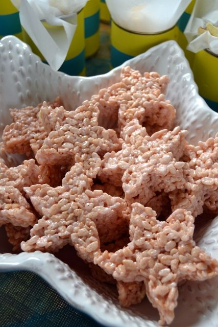 Pink Marshmallow Rice Crispies Starfish