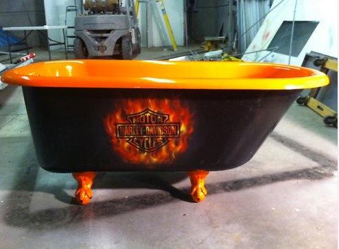 Superior Harley Davidson Clawfoot Bathtub Claw Tub Clawfoot Tub In Home U0026 Garden,  Home Improvement, Plumbing U0026 Fixtures