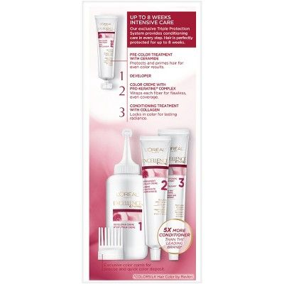 L'Oreal Paris Excellence Non-Drip Crème - 5RB M Red Brown - 1 kit, 5rb Medium Red Brown