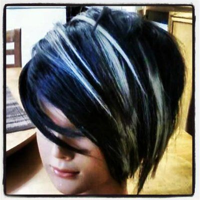Best 25 black with blonde highlights ideas on pinterest blonde my work with blue black coloring and platinum blonde highlights yelp pmusecretfo Image collections